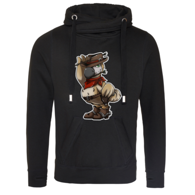 Motiv: Cross Neck Hoodie - Wild West Dodo