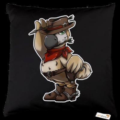 Motiv: Kissen Baumwolle - Wild West Dodo