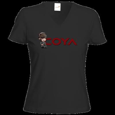 Motiv: T-Shirt Damen V-Neck Classic - Coya-Logo
