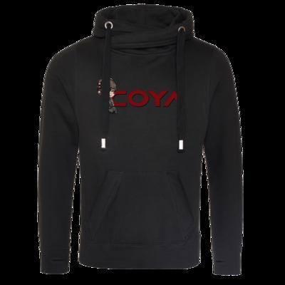 Motiv: Cross Neck Hoodie - Coya-Logo