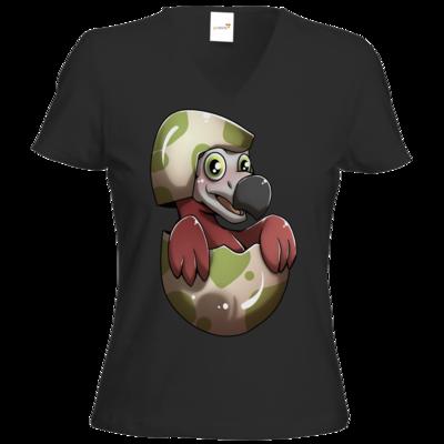 Motiv: T-Shirt Damen V-Neck Classic - Dodo-Küken