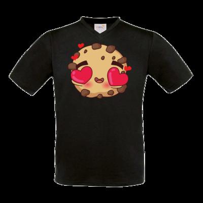 Motiv: T-Shirt V-Neck FAIR WEAR - Love Cookie