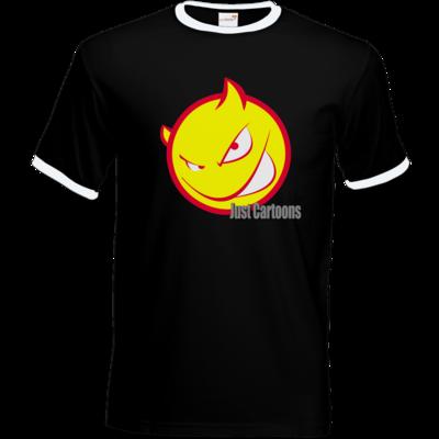 Motiv: T-Shirt Ringer - Soccerdevil