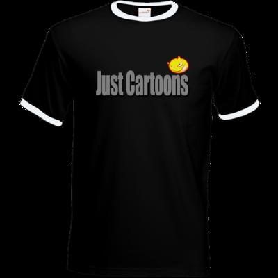 Motiv: T-Shirt Ringer - Just Cartoons Sign
