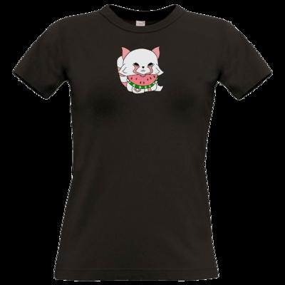 Motiv: T-Shirt Damen Premium FAIR WEAR - Chibipachs watermelon