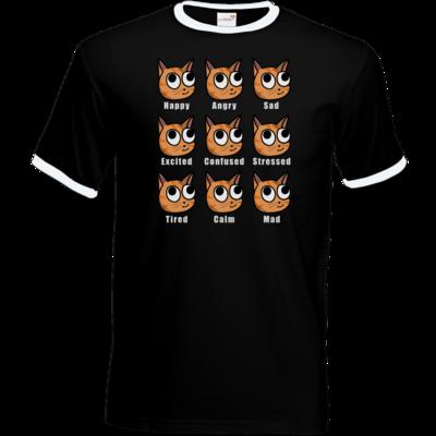 Motiv: T-Shirt Ringer - E-Meow-tions