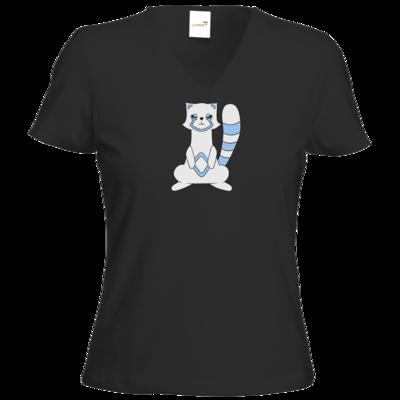 Motiv: T-Shirt Damen V-Neck Classic - Pachs blue