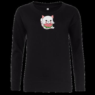 Motiv: Girlie Crew Sweatshirt - Chibipachs watermelon