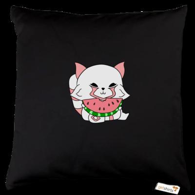 Motiv: Kissen Baumwolle - Chibipachs watermelon