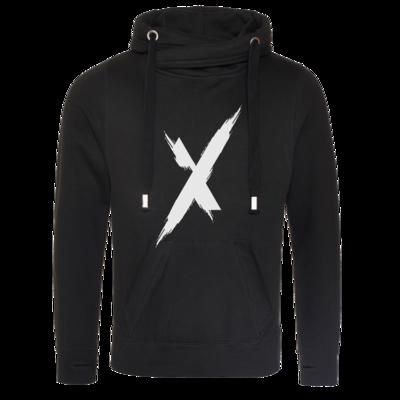 Motiv: Cross Neck Hoodie - Main Logo