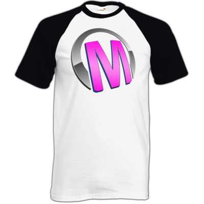 Motiv: TShirt Baseball - Macho - Logo - Rosa
