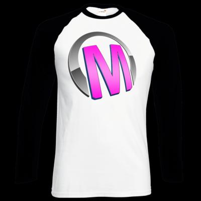 Motiv: Longsleeve Baseball T - Macho - Logo - Rosa
