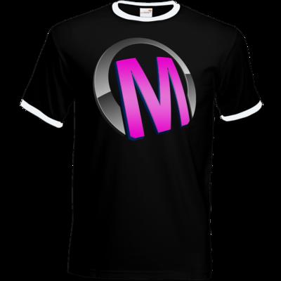 Motiv: T-Shirt Ringer - Macho - Logo - Rosa
