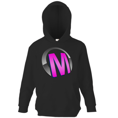 Motiv: Kids Hooded Sweat - Macho - Logo - Rosa