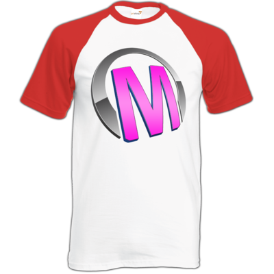 Motiv: Baseball-T FAIR WEAR - Macho - Logo - Rosa