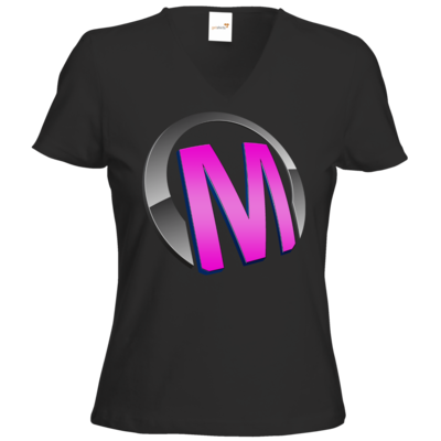 Motiv: T-Shirts Damen V-Neck FAIR WEAR - Macho - Logo - Rosa