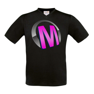 Motiv: T-Shirt V-Neck FAIR WEAR - Macho - Logo - Rosa