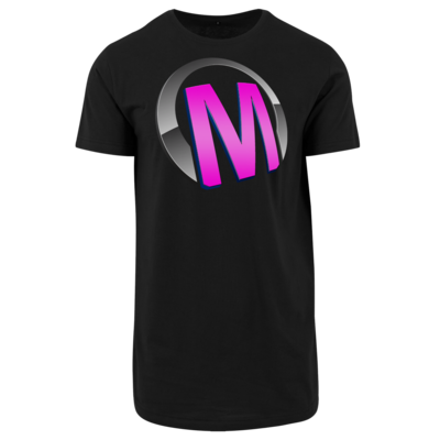 Motiv: Shaped Long Tee - Macho - Logo - Rosa