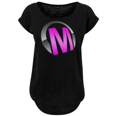 Motiv: Ladies Long Slub Tee - Macho - Logo - Rosa
