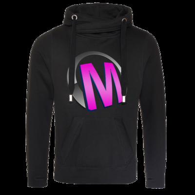 Motiv: Cross Neck Hoodie - Macho - Logo - Rosa