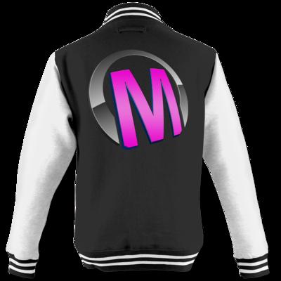 Motiv: College Jacke - Macho - Logo - Rosa