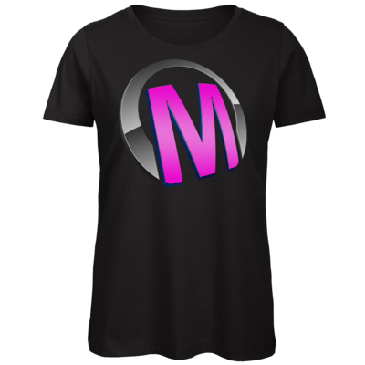 Motiv: Organic Lady T-Shirt - Macho - Logo - Rosa