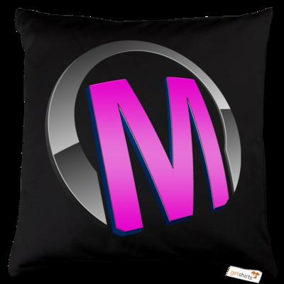 Motiv: Kissen Baumwolle - Macho - Logo - Rosa