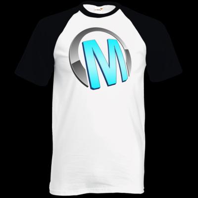 Motiv: TShirt Baseball - Macho - Logo - Türkis