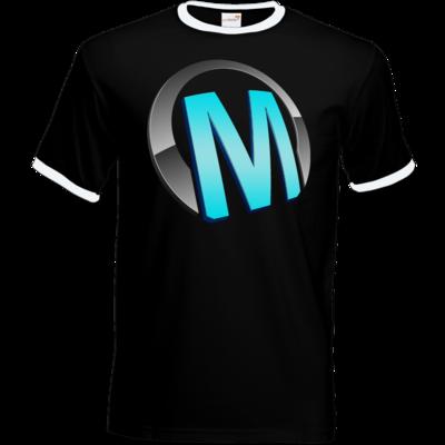 Motiv: T-Shirt Ringer - Macho - Logo - Türkis