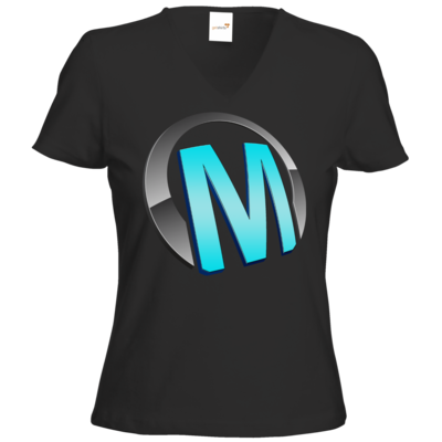 Motiv: T-Shirts Damen V-Neck FAIR WEAR - Macho - Logo - Türkis