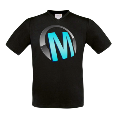 Motiv: T-Shirt V-Neck FAIR WEAR - Macho - Logo - Türkis