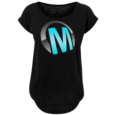 Motiv: Ladies Long Slub Tee - Macho - Logo - Türkis
