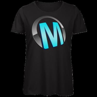 Motiv: Organic Lady T-Shirt - Macho - Logo - Türkis