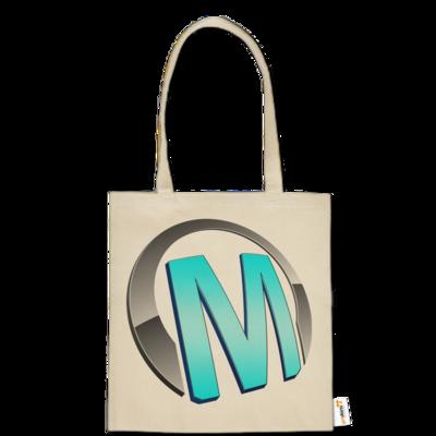 Motiv: Baumwolltasche - Macho - Logo - Türkis