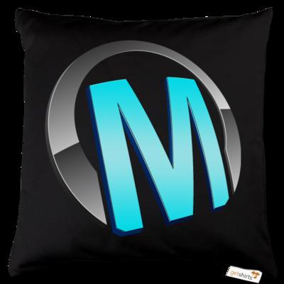 Motiv: Kissen Baumwolle - Macho - Logo - Türkis