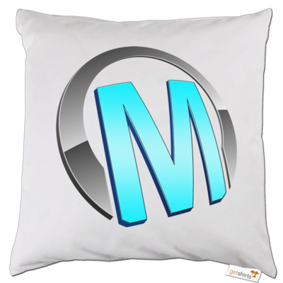 Motiv: Kissen - Macho - Logo - Türkis