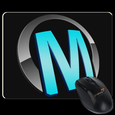 Motiv: Mousepad Textil - Macho - Logo - Türkis