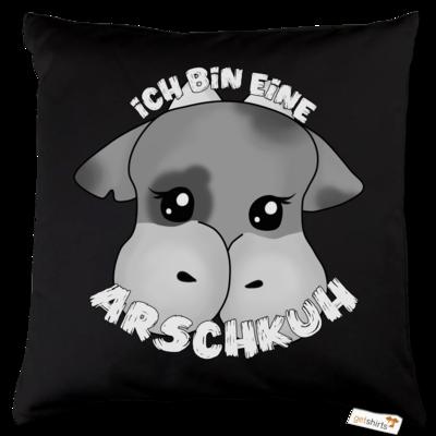Motiv: Kissen Baumwolle - Arschkuh