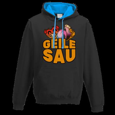 Motiv: Two-Tone Hoodie - GEILE SAU