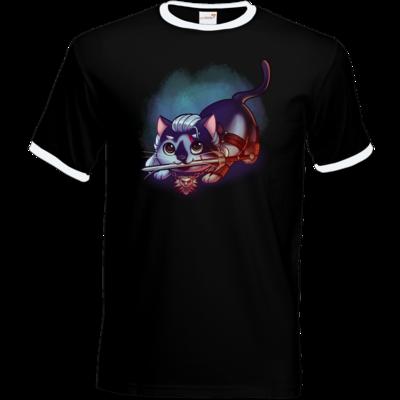 Motiv: T-Shirt Ringer - Pan Tau - Geralt (witcher)