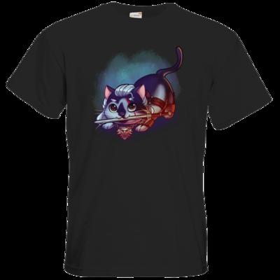 Motiv: T-Shirt Premium FAIR WEAR - Pan Tau - Geralt (witcher)