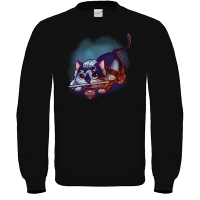 Motiv: Sweatshirt FAIR WEAR - Pan Tau - Geralt (witcher)