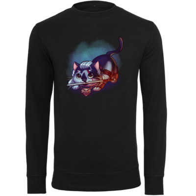 Motiv: Light Crew Sweatshirt - Pan Tau - Geralt (witcher)