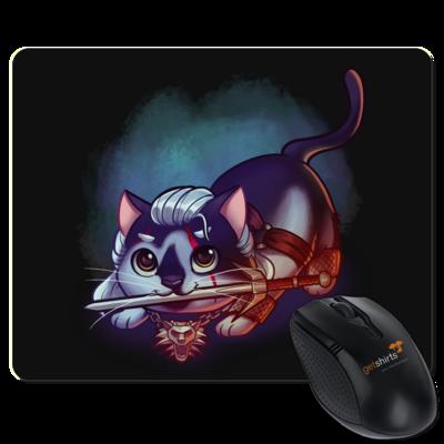 Motiv: Mousepad Textil - Pan Tau - Geralt (witcher)