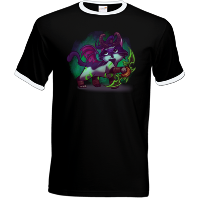 Motiv: T-Shirt Ringer - Pan Tau - Illidan (wow)