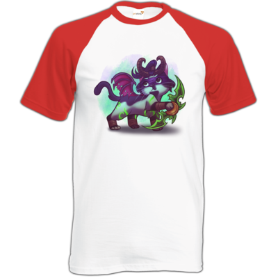 Motiv: Baseball-T FAIR WEAR - Pan Tau - Illidan (wow)