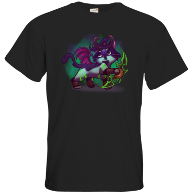 Motiv: T-Shirt Premium FAIR WEAR - Pan Tau - Illidan (wow)