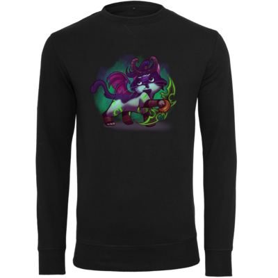 Motiv: Light Crew Sweatshirt - Pan Tau - Illidan (wow)