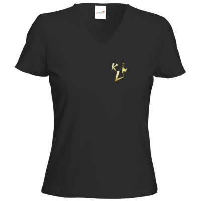 Motiv: T-Shirts Damen V-Neck FAIR WEAR - KL Logo 2019