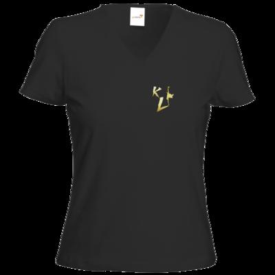 Motiv: T-Shirts Damen V-Neck FAIR WEAR - KL Logo 2019